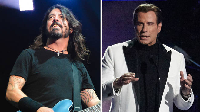 Foo Fighters Dave Grohl and John Travolta