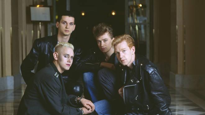 Depeche Mode in 1986:  Dave Gahan Alan Wilder, Martin Gore and Andy Fletcher.