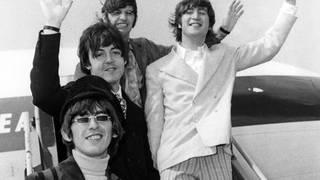 The Beatles at London Airport in June 1966