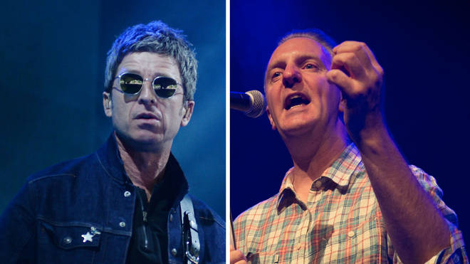 Noel Gallagher and Manchester poet Tony Walsh
