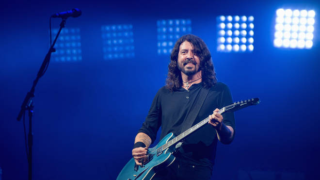 Foo Fighters' Dave Grohl at Glastonbury 2017
