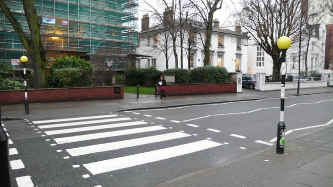 Outside Abbey Road studios, zebra crossing
