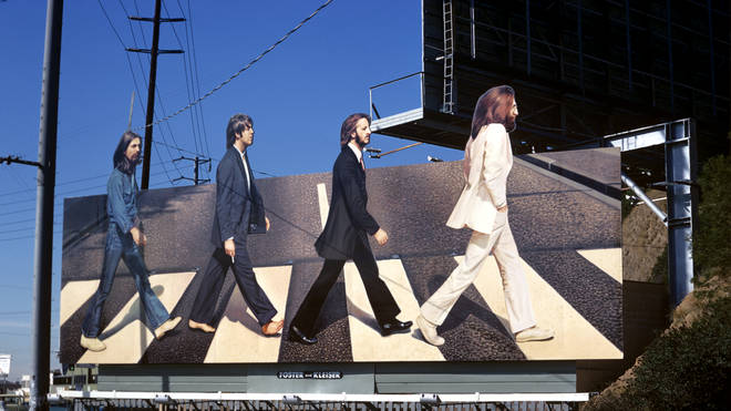 The Beatles Abbey Road Billboard on Sunset Strip in 1969