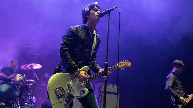 Johnny Marr performs on stage at The Royal Festival Hall on August 08, 2019