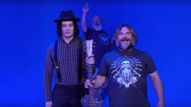 Tenacious D's Kyle Gass and Jack Black visit Jack White at Third Man Records HQ