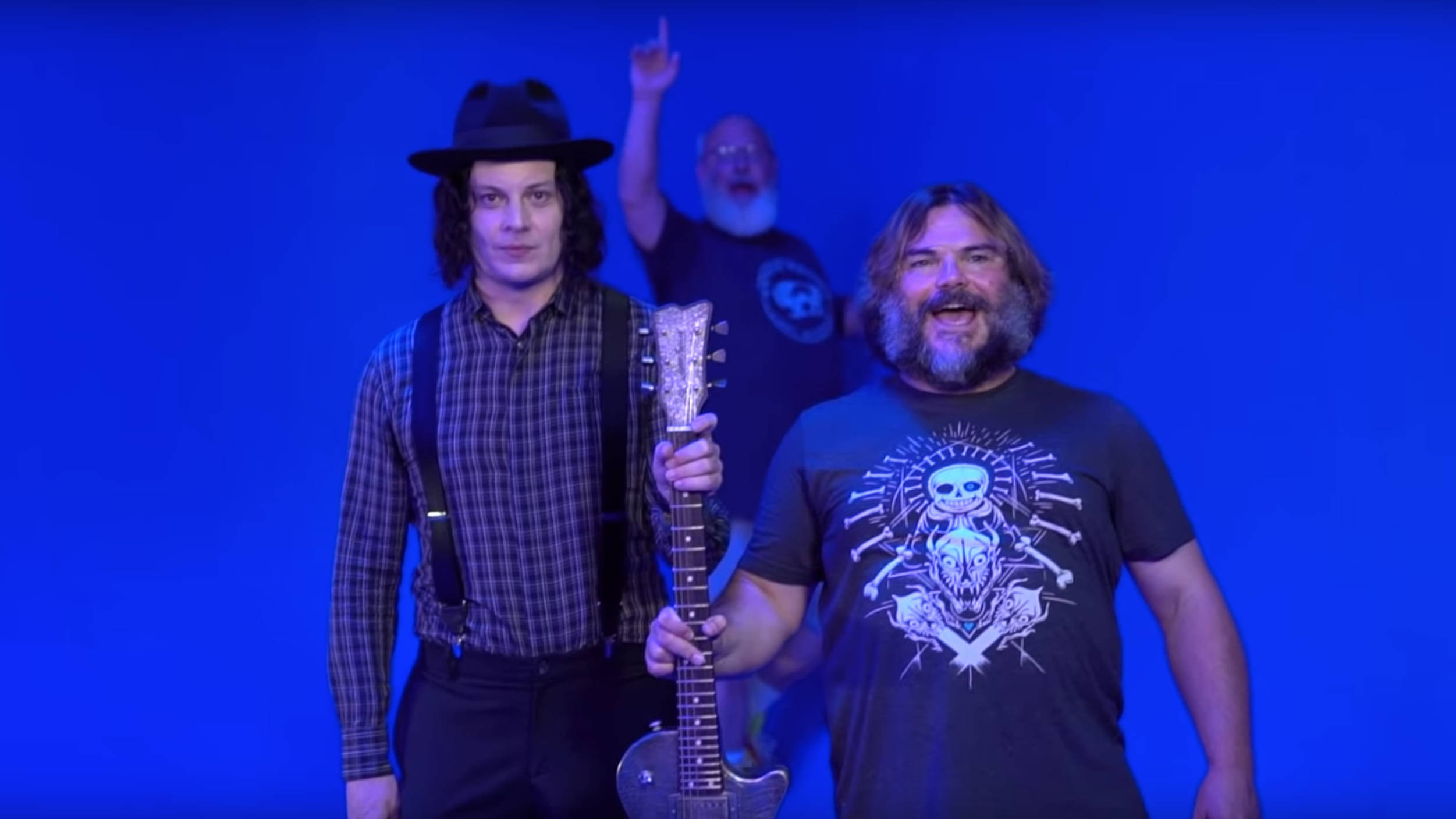 "VIDEO: Tenacious D's Kyle Gass & Jack Black visit Jack White's Third Man Records before ""Jack Gray"" collab"