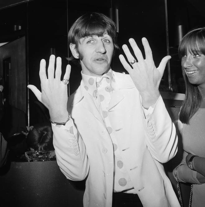 Beatles drummer Ringo Starr at the Melody Maker Pop Poll luncheon in the GPO Tower restaurant, September 1966