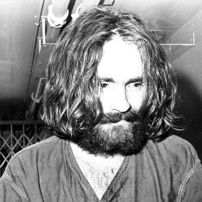 Charles Manson at his trial in 1970