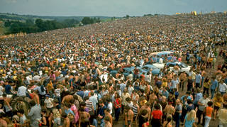 The crowd at Woodstock festival, August 2019