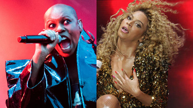 Skin of Skunk Anansie in 2019 and Beyonce at Glastonbury in 2011