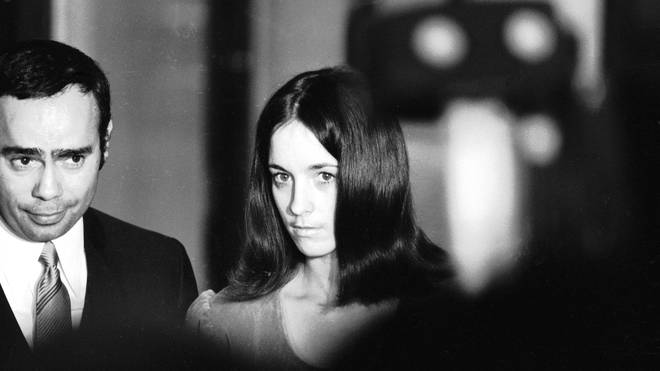 Susan Atkins outside the Grand Jury Room, December 1969