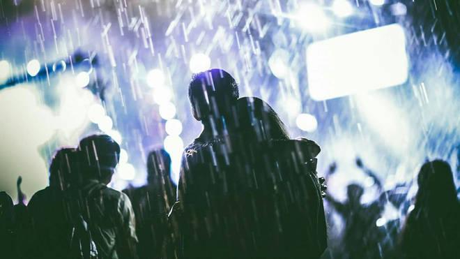 Festival rain stock image