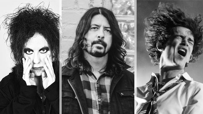 The Cure's Robert Smith, Foo Fighters' Dave Grohl and The 1975's Matt Healy