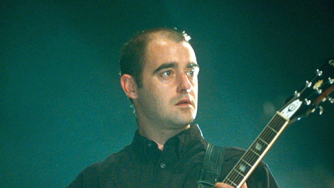 Oasis guitarist Bonehead in 1997