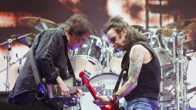 Robert Smith and Simon Gallup of The Cure at Glasgow Summer Sessions, 16 August 2019