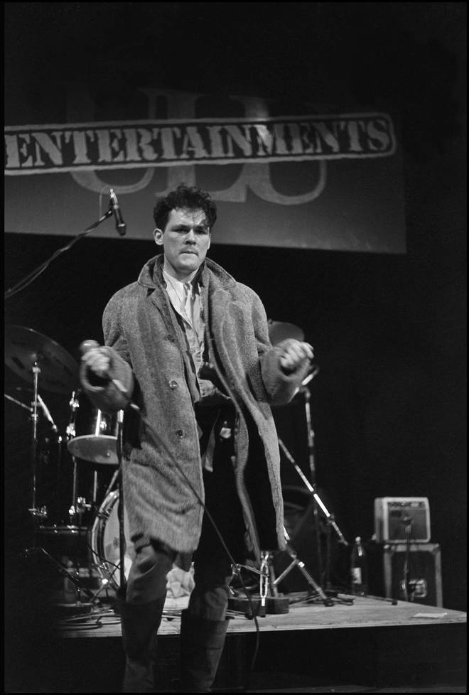Billy MacKenzie of The Associates performing at University of London Union, 30 January 1981