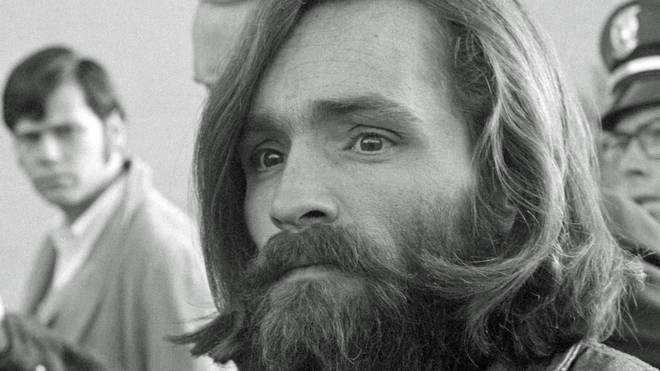 Charles Manson arrives at court in Independence, California, December 1969.
