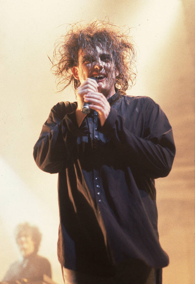 Robert Smith of The Cure in concert in the US in 1989