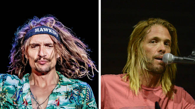 The Darkness frontman Justin Hawkins and Foo Fighters drummer Taylor Hawkins
