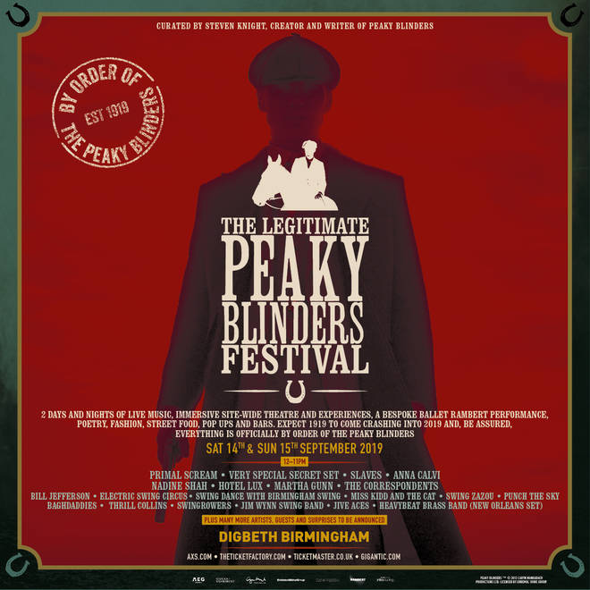 Event poster for The Legitimate Peaky Blinders Festival