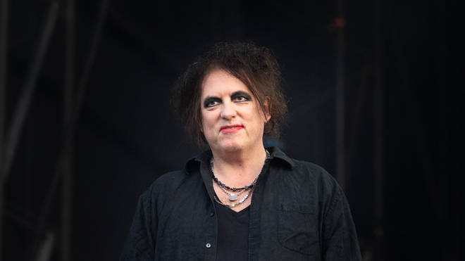 Robert Smith of The Cure poses backstage before performing at Bellahouston Park on August 16, 2019 in Glasgow