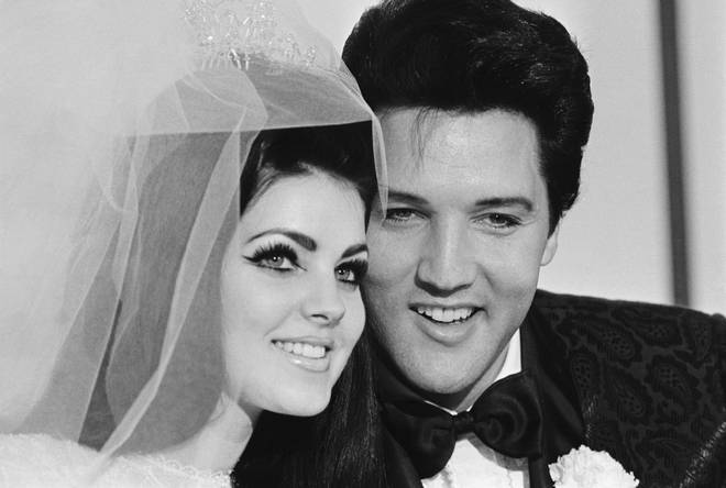 Pricilla and Elvis Presley on their Wedding Day, 1967