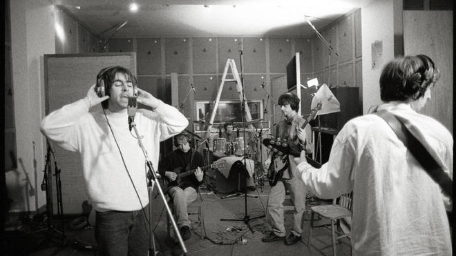 Oasis recording Definitely Maybe in 1994