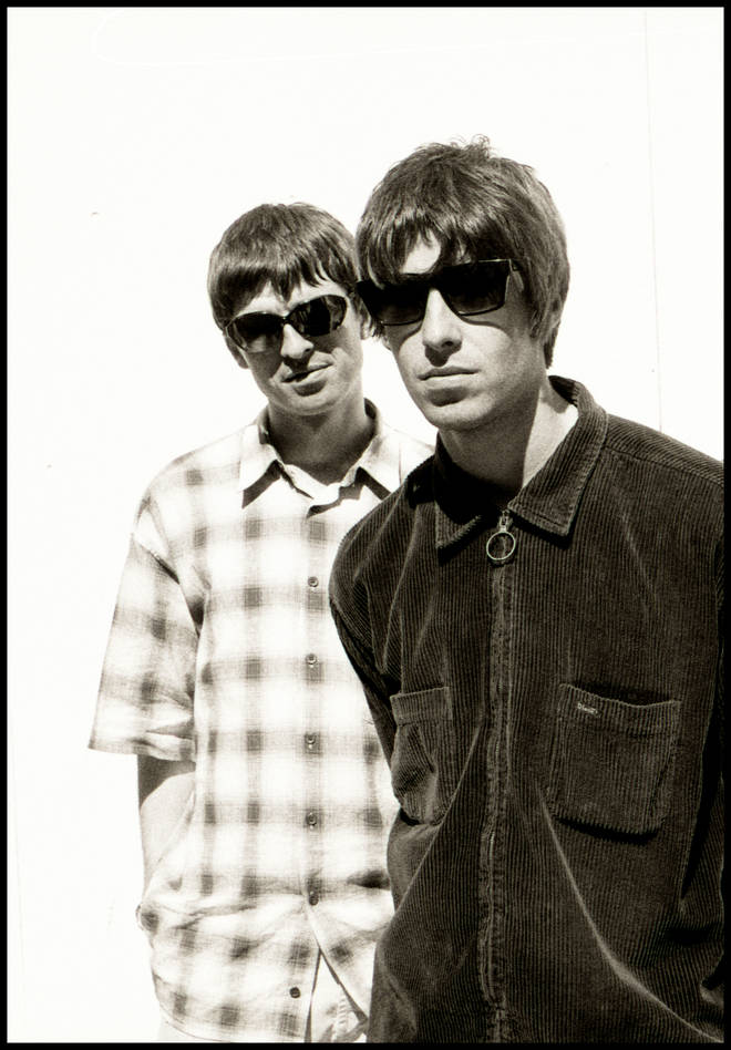 Noel and Liam Gallagher at the Columbia Hotel, 1994