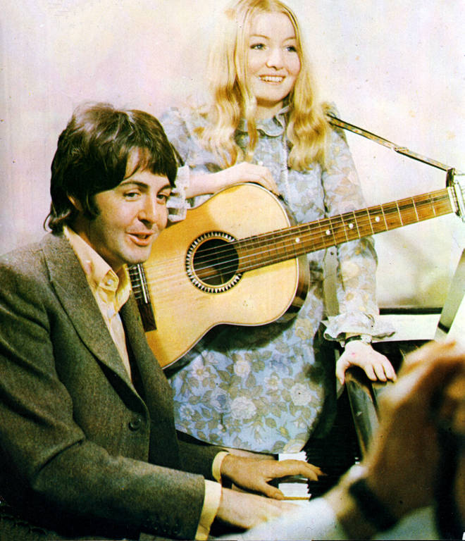 Paul McCartney and Mary Hopkin in 1968