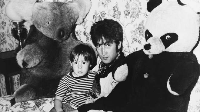 John Lennon and his son Julian in late 1967