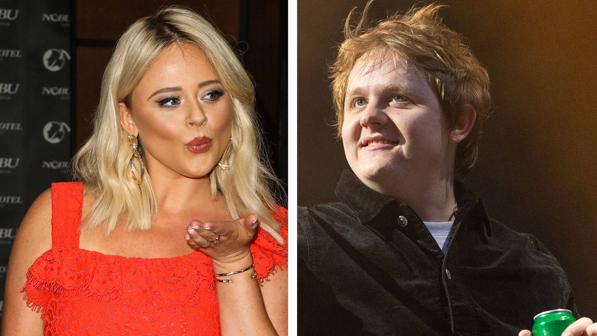 Emily Atack asks Lewis Capaldi if they're twins with selfie photo