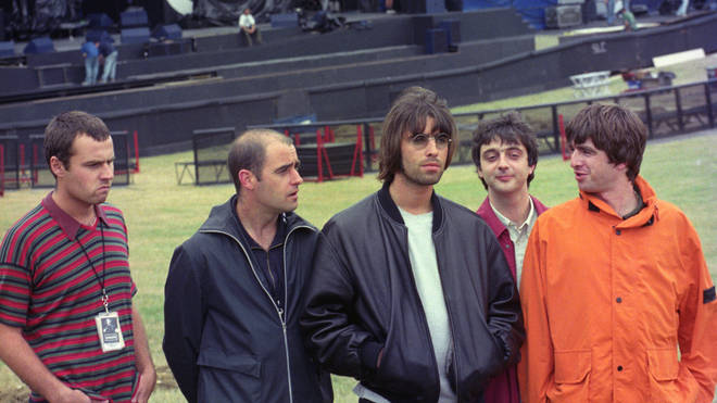 Oasis at Knebworth in 1996