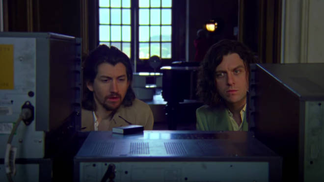 Alex Turner and Nick O'Malley In Four Out of Five video