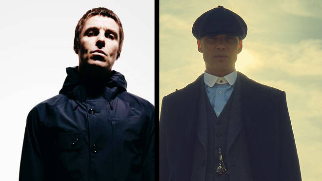 Liam Gallagher and Cillian Murphy as Thomas Shelby in Peaky Blinders