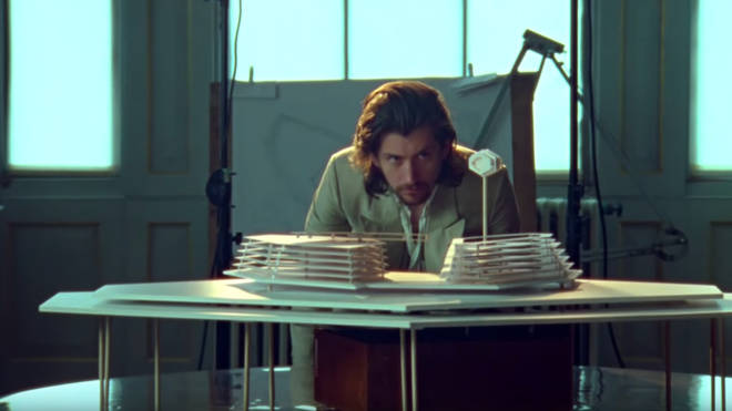 Alex Turner in Arctic Monkeys' Four Out of Five video