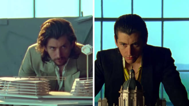 Alex Turner and his double in Four Out of Five video