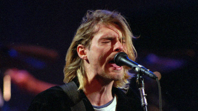 Nirvana's Kurt Cobain in 1993