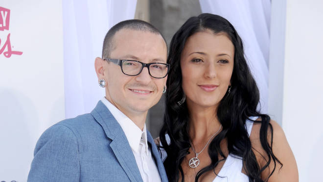 The late Chester Bennington and his widow Talinda in 2012