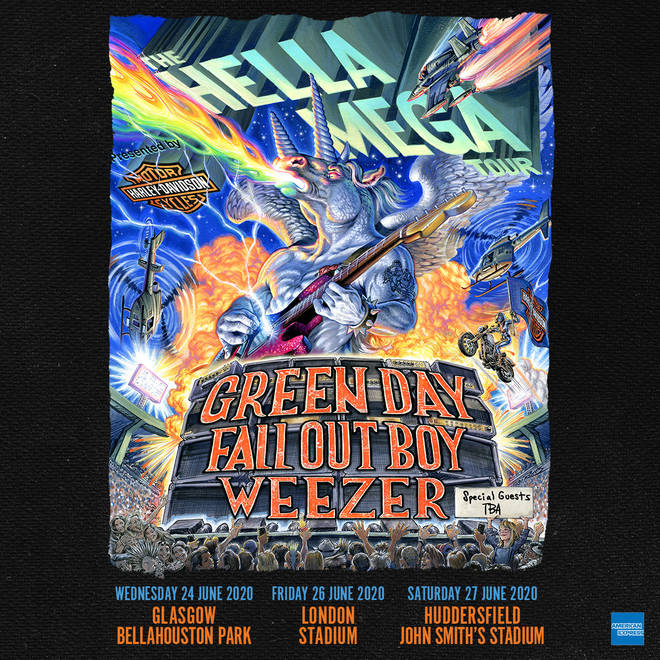Green Day, Fall Out Boy and Weezer announce UK dates for Hella Mega tour