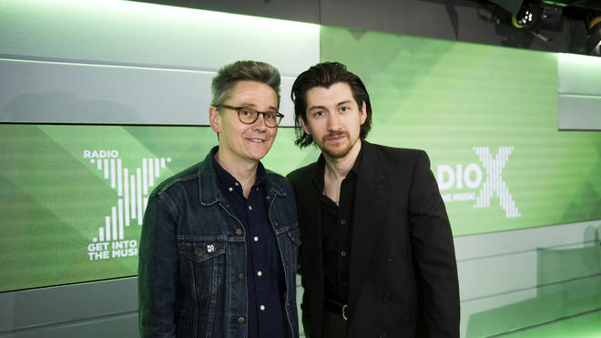 Alex Turner and Radio X's John Kennedy