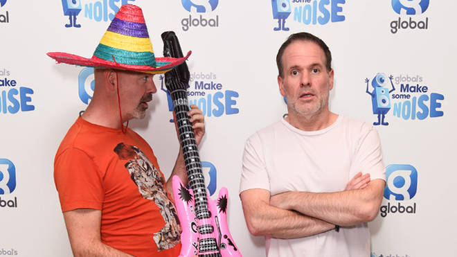 Dominic Byrne and Chris Moyles
