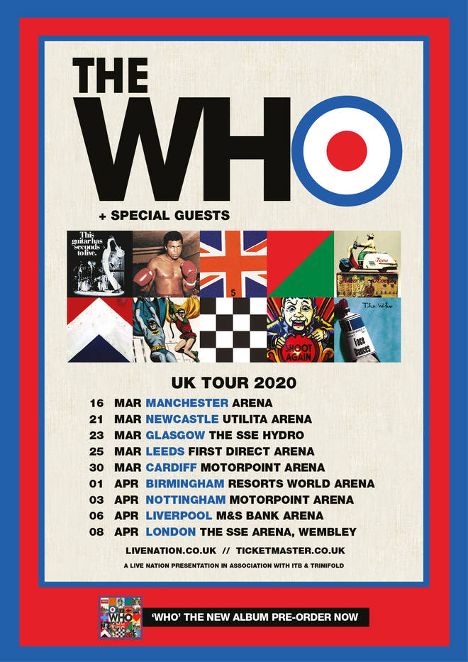 The Who's 2020 UK tour dates