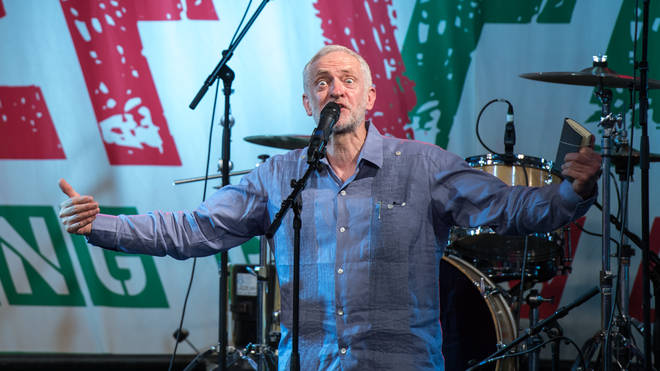 Jeremy Corbyn on Glastonbury's Leftfield Stage