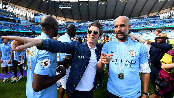 Noel Gallagher and Pep Guardiola