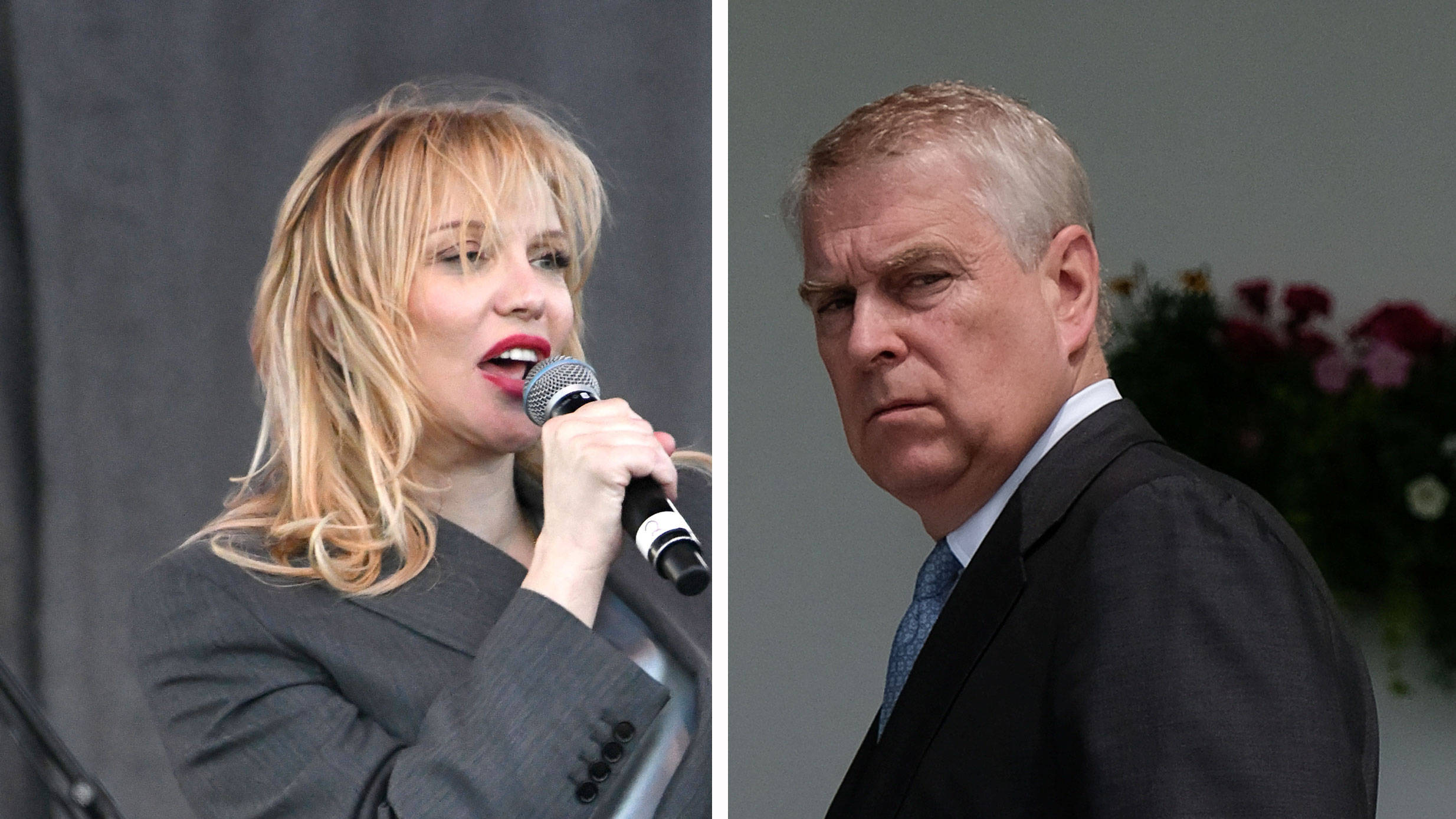 Courtney Love denies Prince Andrew turned up alone at her home at 1am looking for a good time