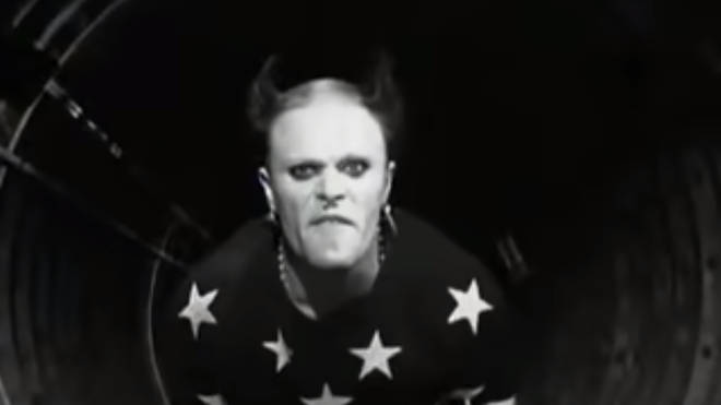 A screengrab from The Prodigy's Firestarter video starring The Prodigy and Keith Flint