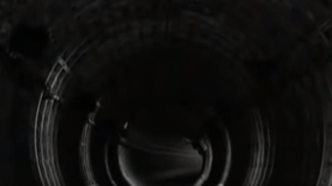 A screenshot of the abandonned tunnel in The Prodigy's Firestarter video