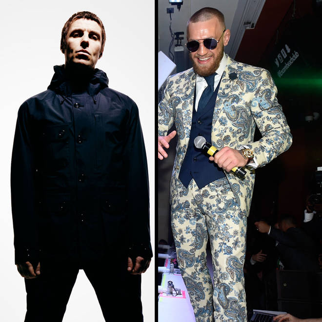 Liam Gallagher and Conor McGregor