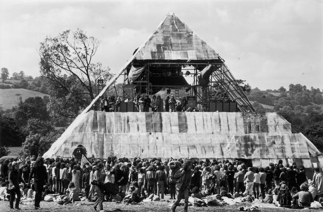 The original Pyramid Stage at Glastonbury Festival