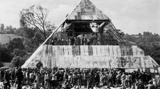 The original Pyramid Stage at Glastonbury Festival